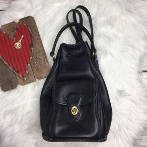 Coach Vintage Leather Cinch Backpack
